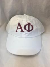 Alpha Phi Sorority Hat- White