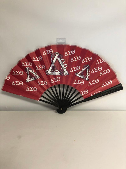 Delta Sigma Theta Sorority Silk Fan