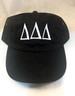 Delta Delta Delta Tri-Delta Sorority Hat- Black