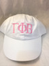 Gamma Phi Beta Sorority Hat- White