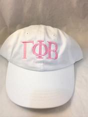 Gamma Phi Beta Sorority Hat- White