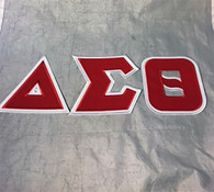 Delta Sigma Theta Sorority Twill Letter Set
