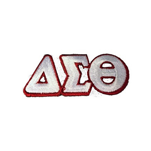 Delta Sigma Theta Sorority Connected Letter Set-White/Red