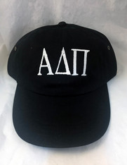 Alpha Delta Pi ADPI Sorority Hat- Black