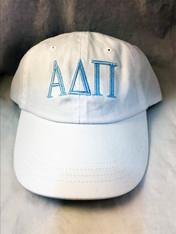 Alpha Delta Pi ADPI Sorority Hat- White