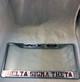 Delta Sigma Theta Sorority Three Greek Letter License Plate Frame-Silver/Crimson