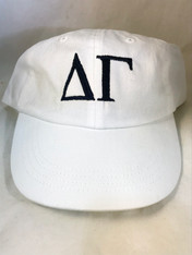 Delta Gamma Sorority Hat- White