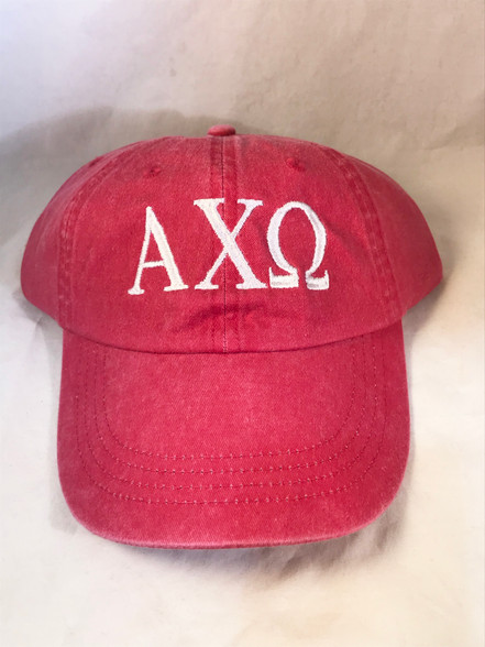 Alpha Chi Omega Sorority Hat- Red