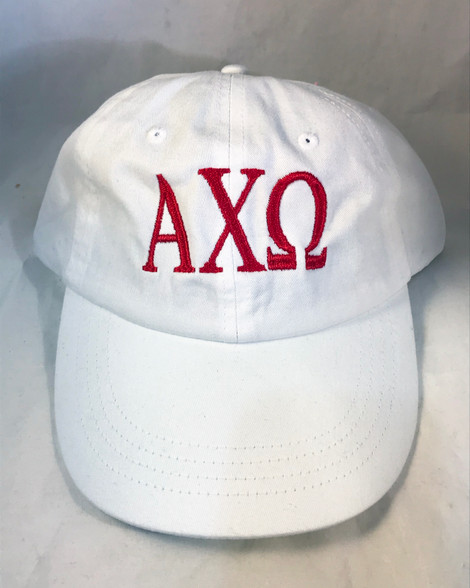 Alpha Chi Omega Sorority Hat- White
