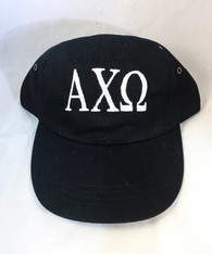 Alpha Chi Omega Sorority Hat- Black