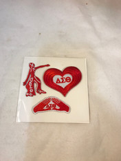 Delta Sigma Theta Sorority Peel and Stick Patches- Pack #2