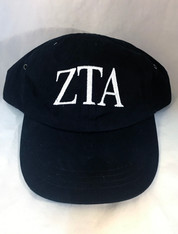 Zeta Tau Alpha ZTA Sorority Hat- Black
