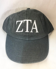 Zeta Tau Alpha ZTA Sorority Hat- Gray