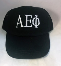 Alpha Epsilon Phi AEPHI Sorority Hat- Black