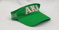 Alpha Kappa Alpha AKA Sorority Visor- Green