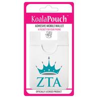 Zeta Tau Alpha ZTA Sorority Koala Pouch- Organization Symbol