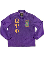 Omega Psi Phi Fraternity Waterproof Coach Jacket