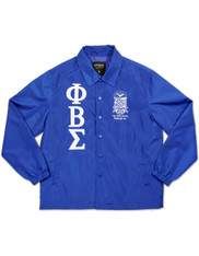 Phi Beta Sigma Fraternity Waterproof Coach Jacket