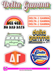 Delta Gamma Sorority Stickers- Retro
