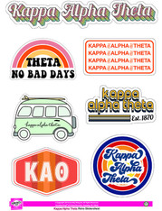 Kappa Alpha Theta Sorority Stickers- Retro