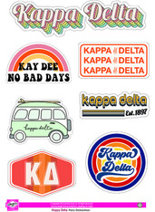 Kappa Delta Sorority Stickers- Retro