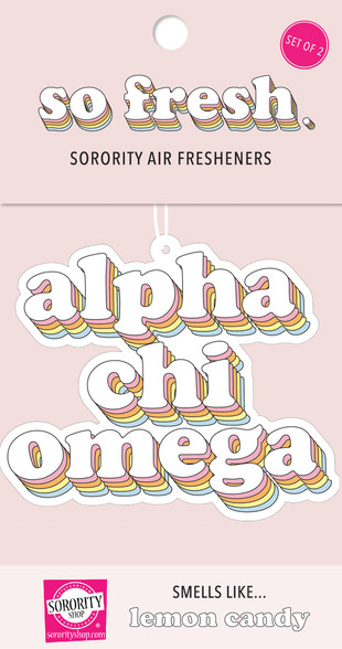 Alpha Chi Omega Sorority Retro Air Freshener