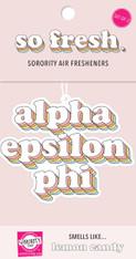 Alpha Epsilon Phi AEPHI Sorority Retro Air Freshener