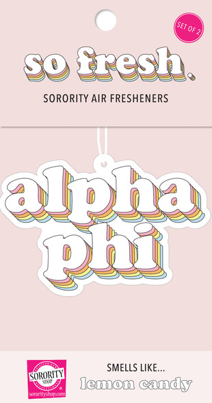 Alpha Phi Sorority Retro Air Freshener