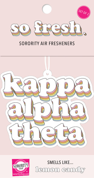Kappa Alpha Theta Sorority Retro Air Freshener