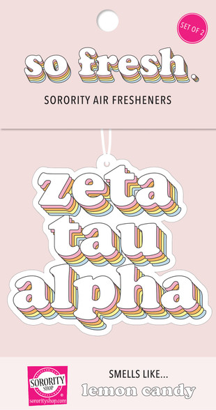 Zeta Tau Alpha ZTA Sorority Retro Air Freshener