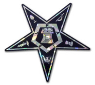Order of the Eastern Star OES Reflective Decal
