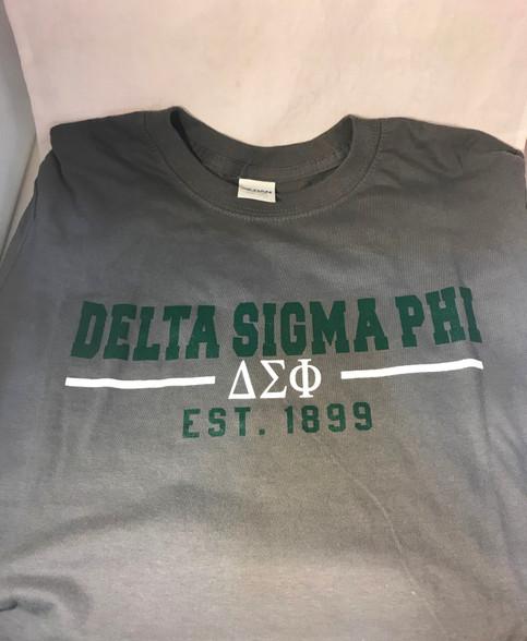 Delta Sigma Phi Fraternity T-Shirt- Gray