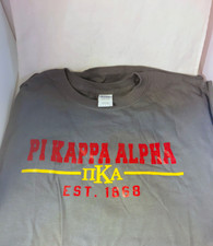 Pi Kappa Alpha PIKE Fraternity T-Shirt- Gray