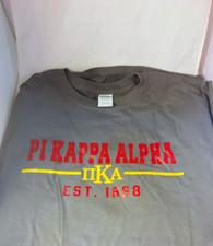 Pi Kappa Alpha PIKE Fraternity T-Shirt- Gray
