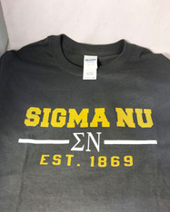 Sigma Nu Fraternity T-Shirt- Gray