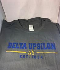 Delta Upsilon Fraternity T-Shirt- Gray
