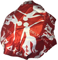 Delta Sigma Theta Sorority Sleep Bonnet Cap- Red