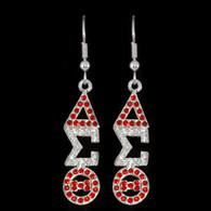 Delta Sigma Theta Sorority Earrings- Silver