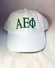 Alpha Epsilon Phi AEPHI Sorority Hat- White