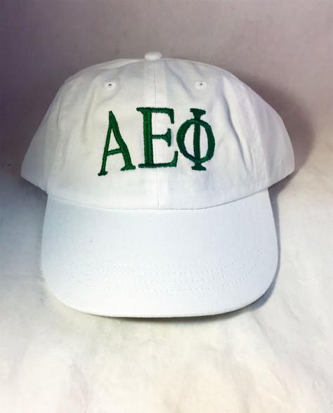 Alpha Epsilon Phi AEPHI Sorority Hat- White