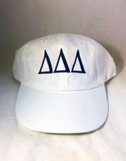 Delta Delta Delta Tri-Delta Sorority Hat- White