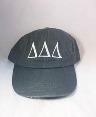 Delta Delta Delta Tri-Delta Sorority Hat- Gray