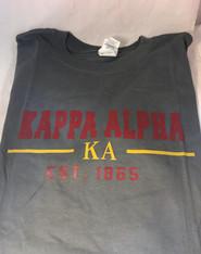 Kappa Alpha Fraternity T-Shirt- Gray