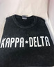 Kappa Delta Sorority Mineral Wash Shirt- Black
