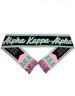 Alpha Kappa Alpha AKA Sorority Scarf-Black/Pink