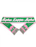 Alpha Kappa Alpha AKA Sorority Scarf-Pink/Green