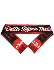 Delta Sigma Theta Sorority Scarf-Black/Red