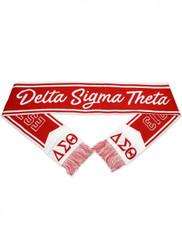Delta Sigma Theta Sorority Scarf-White/Red