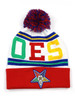 Order of the Eastern Star OES Pom Beanie- Symbol- White/Red