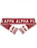 Kappa Alpha Psi Fraternity Scarf- Crimson/Cream